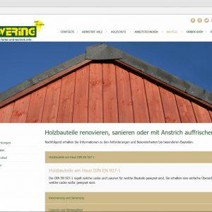 Infoseite Bauteile Webdesign Ewering farbe-und-technik.info