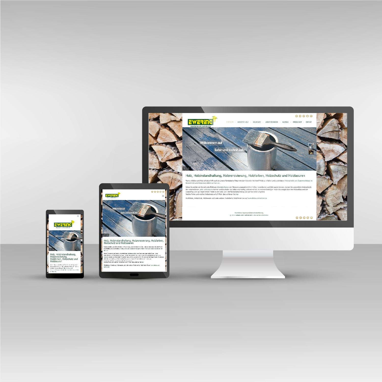 Website responsive Webdesign Farbe-und-technik.info Ewering