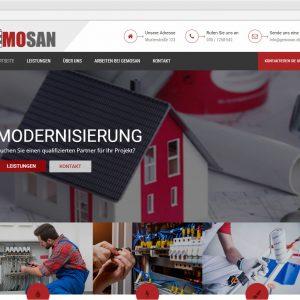 Startseite Gemosan responsive Webdesign Website