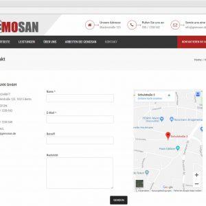 Webdesign Kontakt Gemosan Kontaktformular
