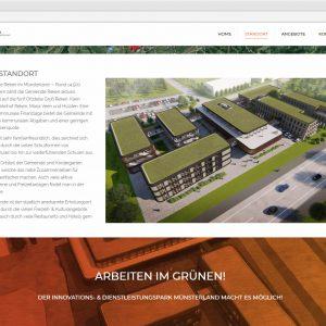 IDPM Website Infoseite Standort idpm.nrw Webdesign