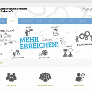 Infoseite Verein Webdesign Marketinggemeinschaft Reken Website mg-reken.de
