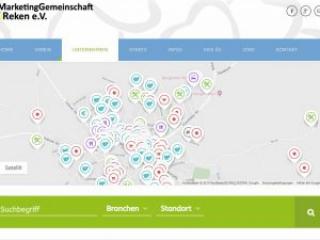 Infoseite Unternehmen Standorte Webdesign mg-reken.de Marketinggemeinschaft Reken