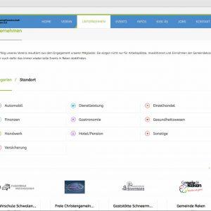 Infoseite Unternehmen Webdesign mg-reken.de Marketinggemeinschaft Reken