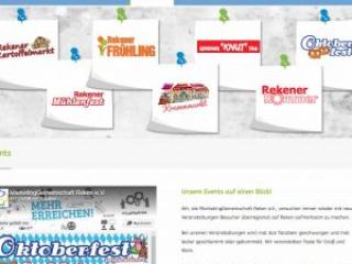 Mg-reken.de Webdesign Infoseite Events Marketinggemeinschaft Reken