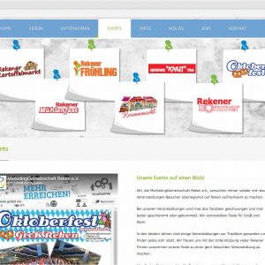 Mg-reken.de Webdesign Infoseite Events Marketinggemeinschaft Reken