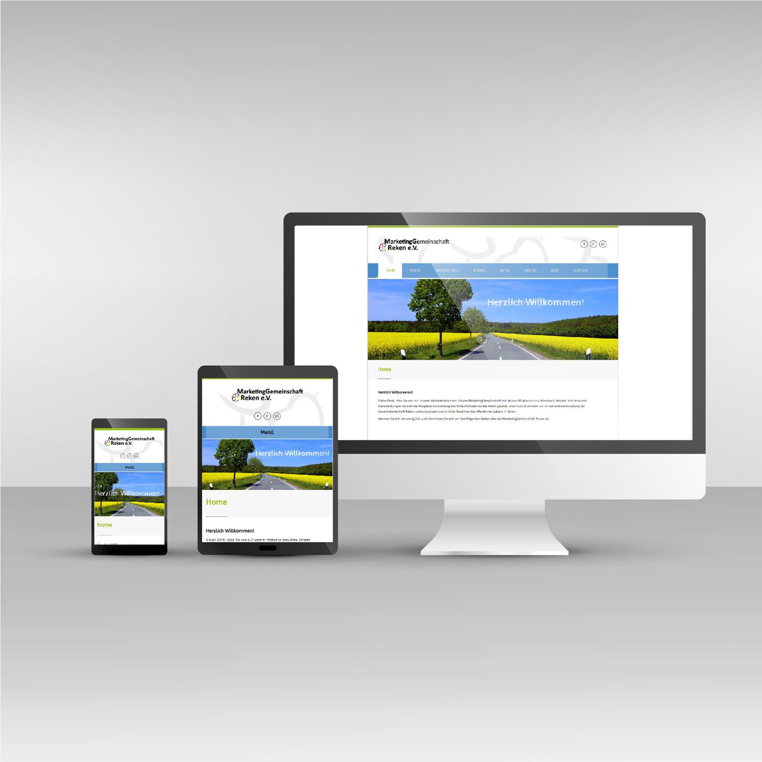 Responsive Webdesign mg-reken.de Website Marketinggemeinschaft Reken