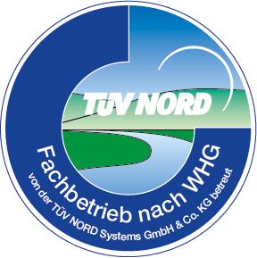 Fachbetrieb nach WHG von der TÜV Nord Systems GmbH & Co. KG betreut